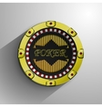 Casino decorative golden coin vector image vector image
