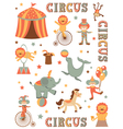 Circus in town vector image vector image