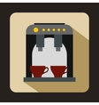 Coffee machine icon flat style vector image vector image
