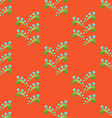 Colored Seamless Floral Pattern in Ethnic Style vector image vector image