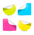 Colorful Empty Stickers - Labels Set Isolated on vector image vector image