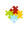 Colorful puzzle icon vector image vector image