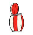 comic cartoon painted barrel vector image vector image