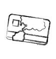credit card bank money symbol vector image vector image