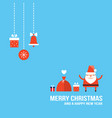 cute santa claus new year christmas holiday vector image