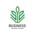 design shape leaf green color logo vector image vector image