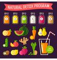 Detox Set Bottles vector image
