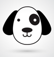 Dog icon vector image vector image