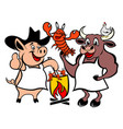 farm animals icon vector image