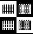 fence simple sign black and white icons vector image