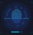 fingerprint scan biometric fingerprints vector image vector image