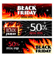 fire sale banners vector image