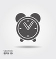 flat icon alarm clock logo vector image