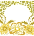 Floral background dahlia vector image vector image