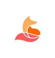 fox logo icon vector image vector image