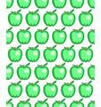 green apple pattern vector image vector image