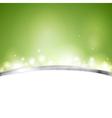 Green shiny design vector image vector image