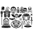 halloween black objects or design elements vector image