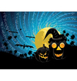 Halloween party background with pumpkins vector image vector image