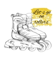 hand drawn roller skate Graphic object for sport vector image vector image