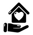 hand house icon simple black style vector image vector image