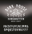 handwritten brush font in horror style vector image vector image