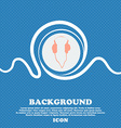headphones sign Blue and white abstract background vector image vector image