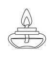 isolated candles cartoon vector image