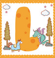 l alphabet letter for kids vector image