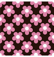 lovely flower background pattern vector image vector image
