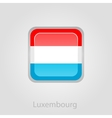 Luxembourg flag button vector image vector image