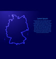 map germany from luminous blue star space points vector image vector image