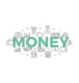 money concept with icons and signs vector image vector image