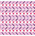 purple and pink chevron seamless pattern vector image vector image