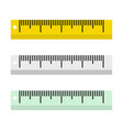 rulers on white background in flat style vector image vector image