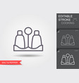 salt and pepper shaker line icon with editable vector image vector image