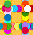 Seamless pattern frame made of color circles vector image vector image