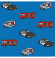 Seamless pattern public service cars vector image vector image