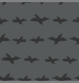 seamless pattern with dark grey sketch vector image vector image