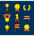 set awards championship icons vector image vector image