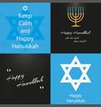 set background on day 4 happy hanukkah vector image vector image