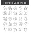set fish and seafood vector image vector image