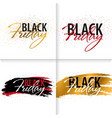 set of black friday sale calligraphic banners vector image vector image