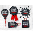 set of plasticine black friday banners vector image vector image