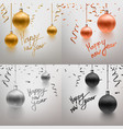 set realistic christmas toy vector image