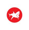 shark dangerous round emblem vector image