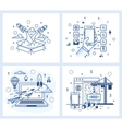 Small of a modern linear style vector image vector image