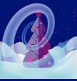 snow swirl around the xmas tree magical landscape vector image