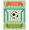 Soccer Championship Retro poster in flat design vector image vector image