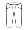 sweatpants thin line icon clothes and sport vector image vector image